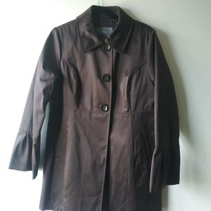Apt. 9 Triple Button Trench Jacket - Brown